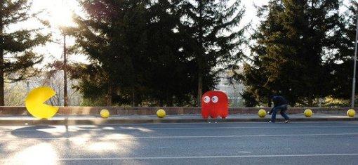 Pac-man en Cinnah Caddesi