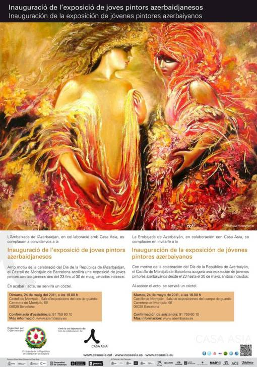 Exposición de jóvenes pintores azerbaiyanos.