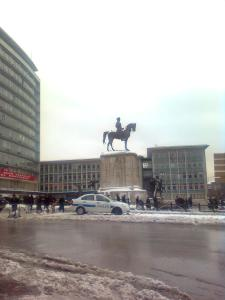 La estatua de Atatürk en Ulus