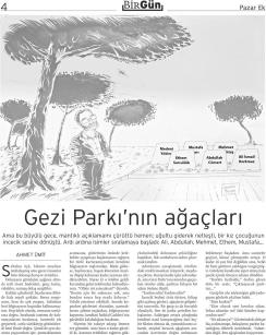 Los árboles de Gezi, por Ahmet Ümit.